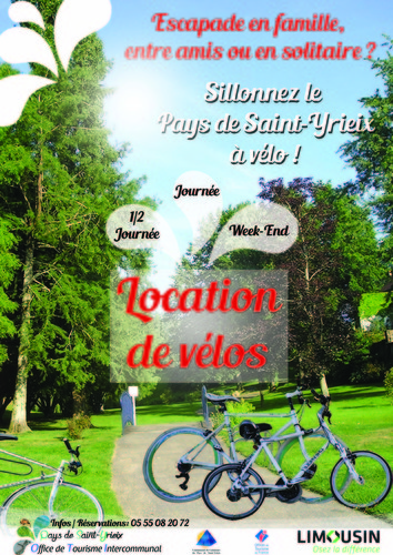 Location de vtt l 39 office de tourisme intercommunal saint yrieix la perche office de - Office de tourisme saint yrieix la perche ...